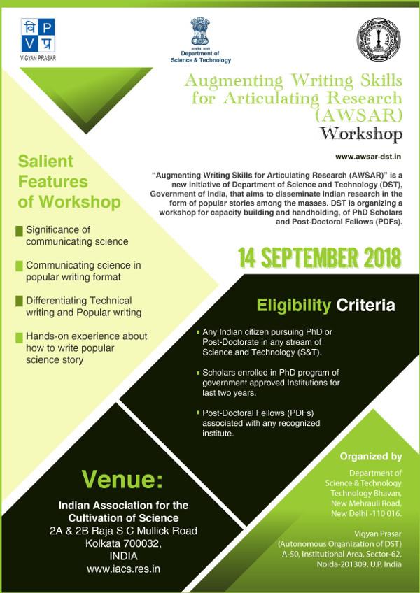 AWSAR Workshop, Kolkata